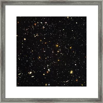 Hubble Ultra Deep Field Galaxies Framed Print by Nasaesastscis.beckwith, Hudf Team