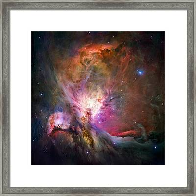 Hubble's Sharpest View Of The Orion Nebula Framed Print by Adam Romanowicz