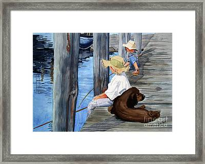 Huckleberry Boys Framed Print by Barry Levy