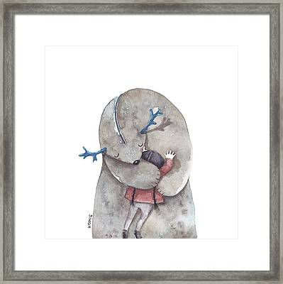 Hug Me Framed Print by Soosh
