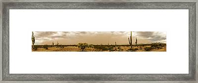 Huge Arizona Dust Storm Panoramic Framed Print by Chuck Brown