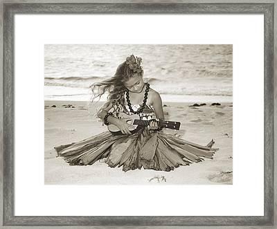 Hula Girl Framed Print by Himani - Printscapes
