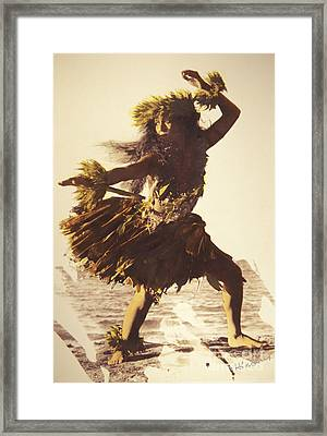 Hula In A Ti Leaf Skirt Framed Print by Himani - Printscapes