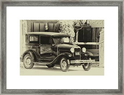 Hulett Wyoming Antique Car For Sale Heirloom Framed Print by Thomas Woolworth