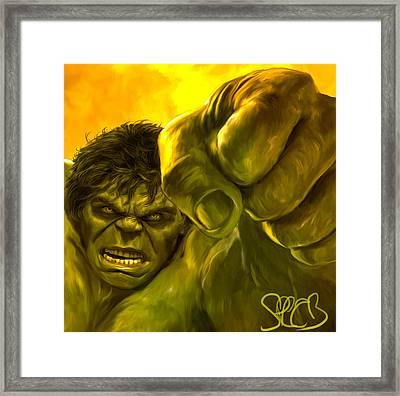 Hulk Framed Print by Mark Spears