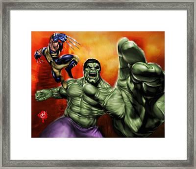 Hulk Framed Print by Pete Tapang