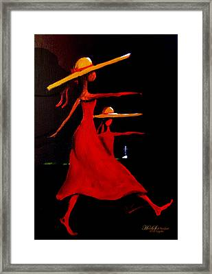 Humble Strutt Barefoot  Framed Print by C F  Legette