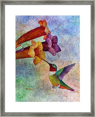 Hummer Time Framed Print by Hailey E Herrera