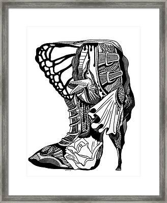 Hummingbird High Heel Framed Print by Kenal Louis
