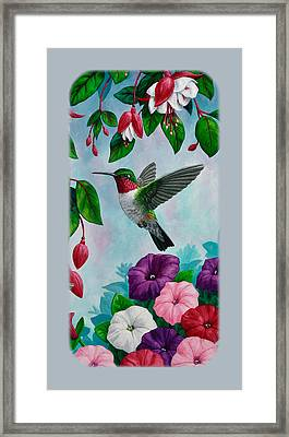 Hummingbird Phone Case V Framed Print by Crista Forest