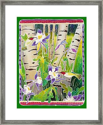 Hummingbirds In The Aspen Framed Print by Harriet Peck Taylor