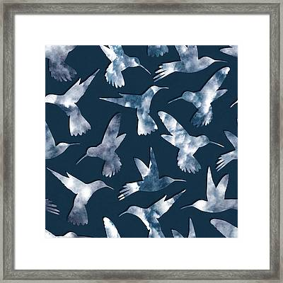 Hummingbirds Framed Print by Varpu Kronholm