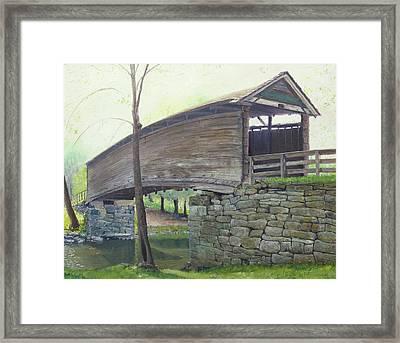 Humpback Bridge Framed Print by J Luis Lozano