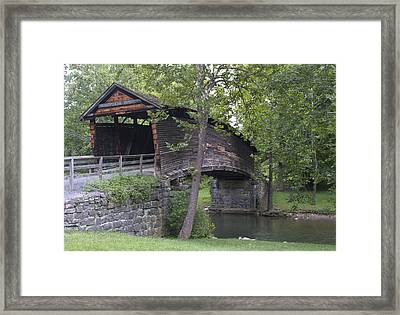 Humpback Covered Bridge In Covington Virginia Framed Print by Brendan Reals