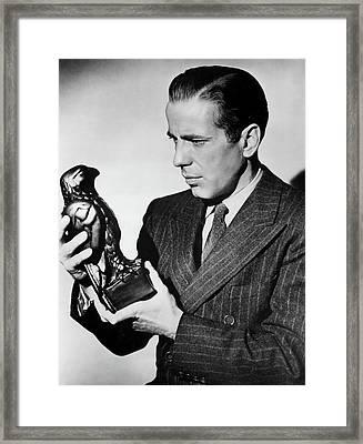 Humphrey Bogart Holding Falcon #1the Maltese Falcon 1941 Framed Print by David Lee Guss