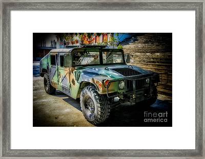 Humvee Framed Print by Adrian Evans