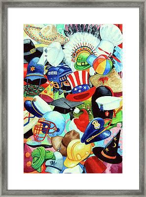 Hundreds Of Hats Framed Print by Hanne Lore Koehler