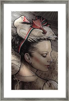 Hungarian Goose Framed Print by Ottilia Zakany