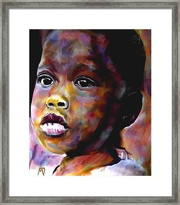 Hunger Number 4 Framed Print by Michelle Dick
