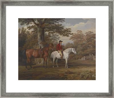 Hunter And Huntsman Framed Print by George Gerrard