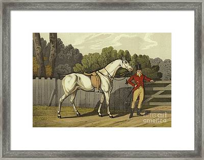 Hunter Framed Print by Henry Thomas Alken