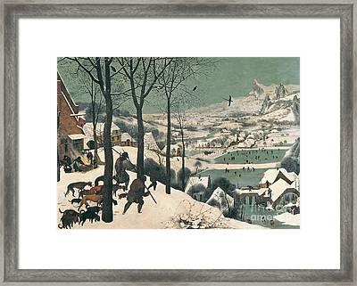 Hunters In The Snow Framed Print by Pieter the Elder Bruegel