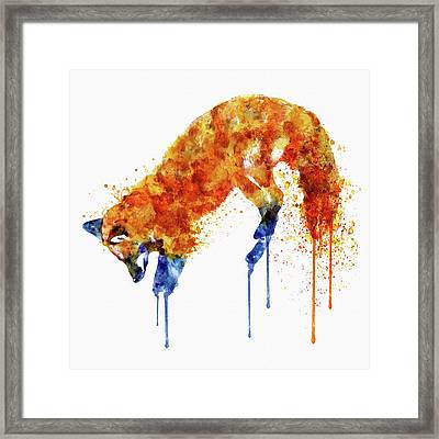 Hunting Fox  Framed Print by Marian Voicu