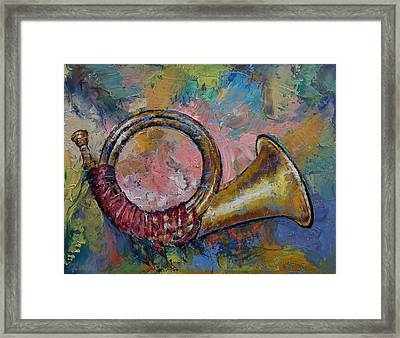 Hunting Horn Framed Print by Michael Creese