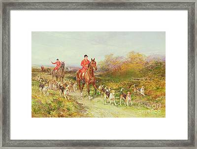Hunting Scene Framed Print by Heywood Hardy