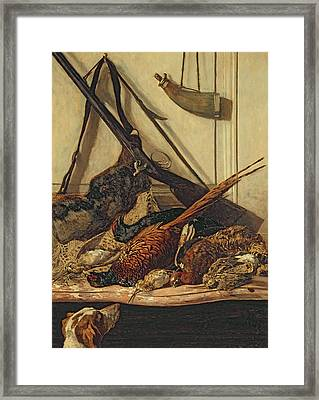 Hunting Trophies Framed Print by Claude Monet