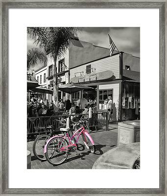 Huntington Beach Longboard Restaurant And Pub Framed Print by Rich Beer