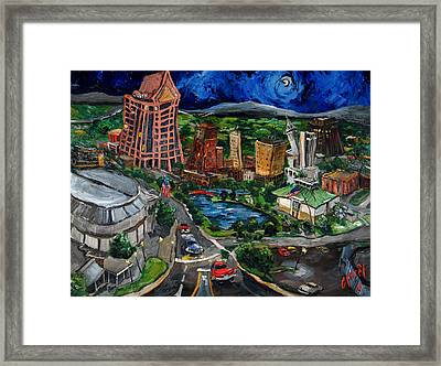 Huntsville Skyline Framed Print by Carole Foret