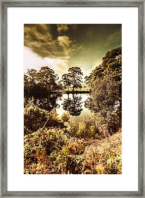 Huonville River Reflections Framed Print by Jorgo Photography - Wall Art Gallery