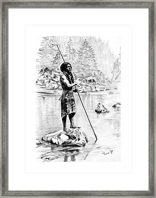 Hupa Fisherman Framed Print by Toon De Zwart