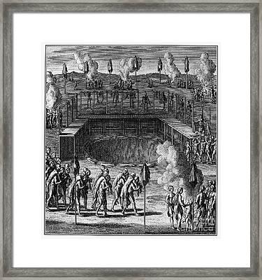 Huron Feast Of The Dead Framed Print by Granger