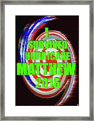 Hurricane Matthew Survivor Framed Print by David Lee Thompson