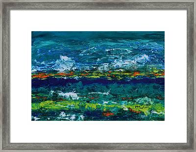 Hurricane Season Begins Framed Print by Donna Blackhall