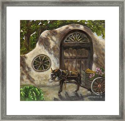 Hurry Up And Wait Framed Print by Donna Vesely