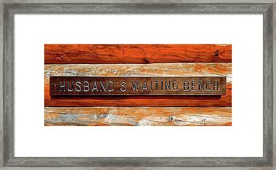 Husband's Waiting Bench - Denali National Park Framed Print by Joseph Hendrix