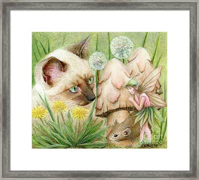Hush Little Mouse Framed Print by Karen Hull