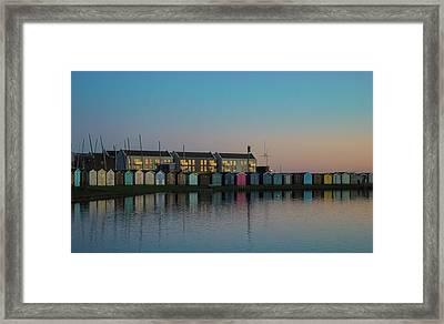 Huts Framed Print by Martin Newman