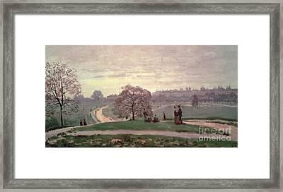 Hyde Park Framed Print by Claude Monet