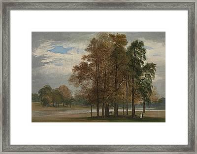 Hyde Park Framed Print by John Martin