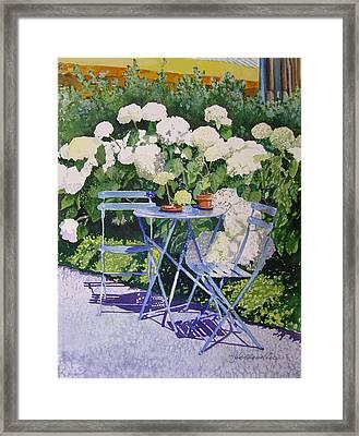 Hydrangeas At Angele Framed Print by Gail Chandler
