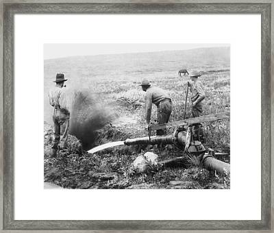 Hydraulic Gold Mining C. 1889 - S. Dakota Framed Print by Daniel Hagerman