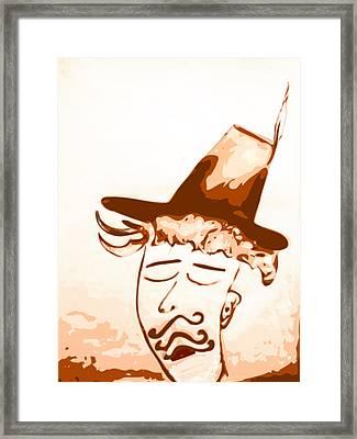 Hyper Chauvinist Framed Print by Keshava Shukla