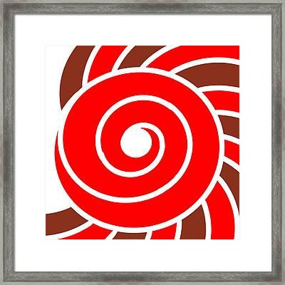 Hypnotic Circle Framed Print by Pratyasha Nithin