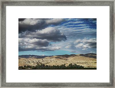 I Almost Touched The Clouds Framed Print by Laurie Search