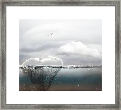 I Am An Island Framed Print by Jacky Gerritsen