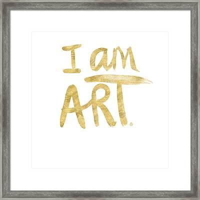 I Am Art Gold - Art By Linda Woods Framed Print by Linda Woods